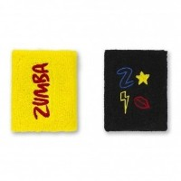 【ズンバ】 Zumba Dance Like A Boss Wristbands Bold Black 2個セット 【並行輸入品】