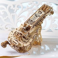 Ugears hurdy-gurdy 3d木製パズル – self-assembling Mechanical Brain Teaser forと大人