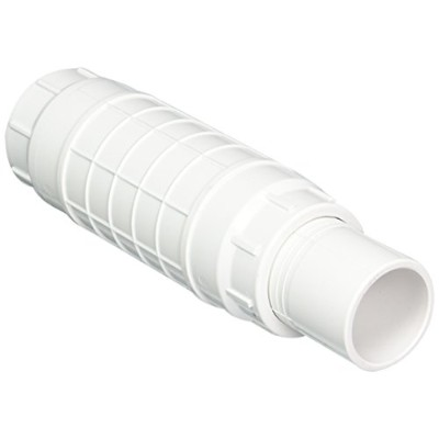 Spears S118 Series PVC Pipe Fitting, Repair Coupling with EPDM O-ring, White, 1-1/2 Spigot x 1-1/2...