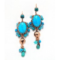 Amaro Jewelry Studio 'Ocean' Collection Admirable Dangle Earrings Accented with Flower and Leaf...