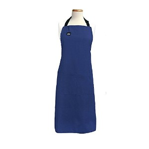 High Qualityonal Heavyweight Cotton Stain Resistant Solid Color Cook's Apron, Cobalt