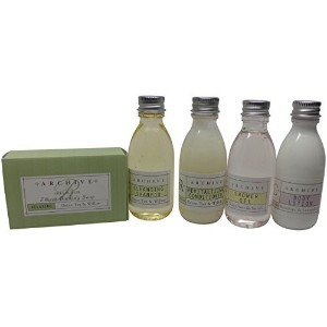 Archive Essentials Travel Set Shampoo Conditioner Lotion Shower Gel and Soap by Archive