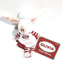"SPINMASTER Mini Plush Chef Olivia 5.75 "" Plush Doll Limited Collectors figure"
