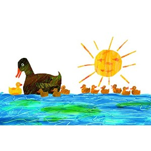 Marmont Hill Eric Carle 's 10 Little Rubber Ducks duckings-1キャンバス壁アート 24 by 16-Inch MH-ECARL-43-C-24