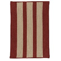 High Qualitye Polypropylene Braided Sample Swatch Rug, 14 by 17, Rust Red