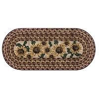 High Quality Sunflower Braid Kitchen Rug, 20-Inch by 44-Inch, Sunset