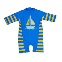 bonverano ( TM ) Kids UPF 50 +太陽保護S / S One Piece Zip Sun Suit
