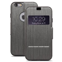 【moshi SenseCover for iPhone 6 Plus Steel Black】 b00nuawurs