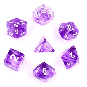 【HENGDA Dice Polyhedral 7-diceセット星雲カラーGaming Dice for Dungeons and Dragons DND RPG MTGテーブルゲームダイス...