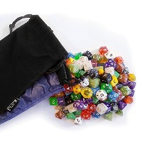 【150 RPG Dice   Guaranteed 15 Complete 10 Piece Polyhedral Dice Sets With 2 Dice Bags】 b01g91lp5m