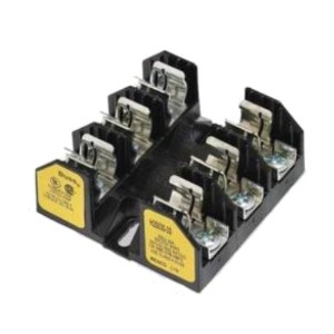 【Mersen 20307R Class R Spring Reinforced Fuse Block with Box Connector, #2-14 Wire Range, 30 Ampere...