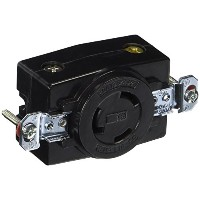 【Hubbell HBL2360 Locking Receptacle, 20 amp, 125/250V, L10-20R, Black by Hubbell】