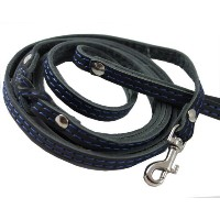 【6' Long Genuine Leather Braided Dog Leash Black 3/8 Wide for Small Dogs amd Puppies by Dogs My...