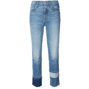7 For All Mankind クロップドジーンズ - ブルー