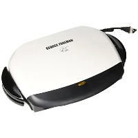 George Foreman ジョージフォアマン GRP4 Next Grilleration 5-Burger Grill with Removable Plates, White グリル...