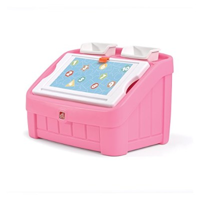 Step2 2-in-1 Toy Box and Art Lid, Pink by Step2 [並行輸入品]