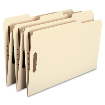 Folder, Two Fasteners, 1/3 Cut Assorted, Top Tab, Legal, Manila 50/Box (並行輸入品)