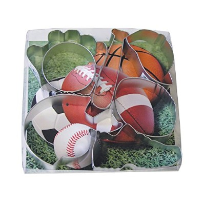 R & M International 1805 7-Piece Cookie Cutters, Sports, Assorted by R&M