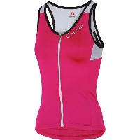 カステリ レディース サイクリング スポーツ Castelli Solare Jersey - Sleeveless - Women's Raspberry/White/Black
