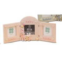 Godparents and Baby Picture Frame - Girl by Enesco