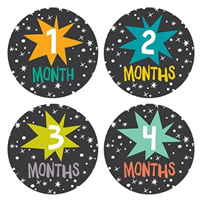Lucy Darling Baby Monthly Stickers - Gender Neutral - Star Bright - Months 1-12 by Lucy Darling