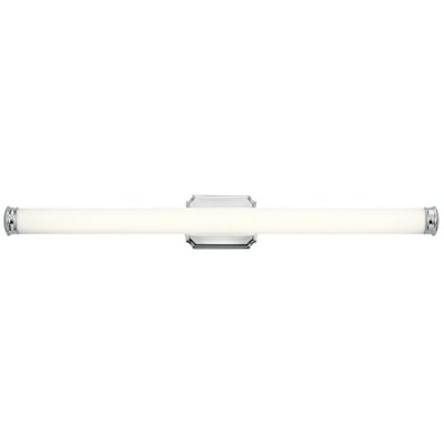 "Kichler 45680led Cambria Singleライト38 – 1 / 2 "" Wide統合LEDバスバー – Ada、 シルバー 45680CHLED 1"