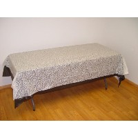 Exquisite Plastic Tablecloth 54in. x 108in. Plastic Rectangle Table Cover - White Lace by Exquisite