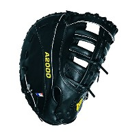 Wilson A2000 PS 1st Base Baseball Glove, Black, Right Hand Throw, 12-Inch