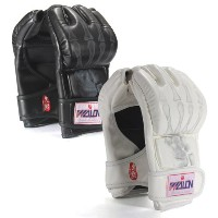 Boxing Fighting Grappling半分指パンチレザーMittsグローブ