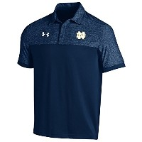 Notre Dame Fighting IrishサイドラインPodium Polo Navy L