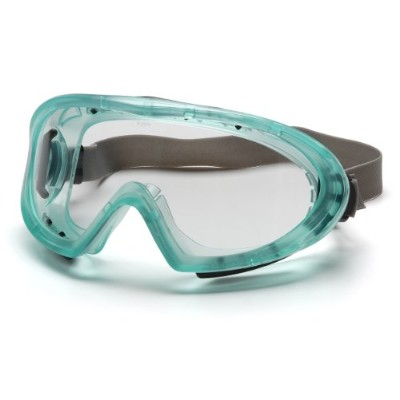 Pyramex Capstone Chemical Green Direct/Indirect Goggle With Neoprene Strap With Clear Anti-Fog Lens by Pyramex Safety
