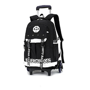 (通園バッグ) Meetbelify Kids Rolling Backpacks Lage Six Or Two Wheels Unisex Trolley School Bags