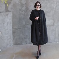 [zoozoom] A-line loose fit coat 2color / 28459