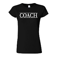 Coach Trainer Sport Funny Novelty Black Women T Shirt Top-M