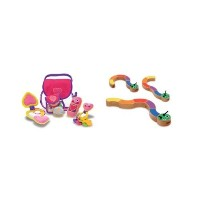 3 Item Bundle: Melissa & Doug 3049 Pretty Purse Fill and Spill Toddler Toy and 3032 Caterpillar...