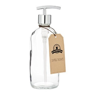 Clear Glass Jar Soap and Lotion Dispenser with Modern Chrome Pump - 470ml - by Jarmazing Products