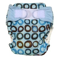 VillaBabies All- In-one Cloth Diaper Stay-dry Fitted (medium, blue circles) by Villa Babies