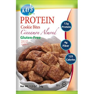 Kay's Naturals Protein Cookie Bites, Cinnamon Almond Filled, 1.2 oz (Pack of 6) by Kay's Naturals ...