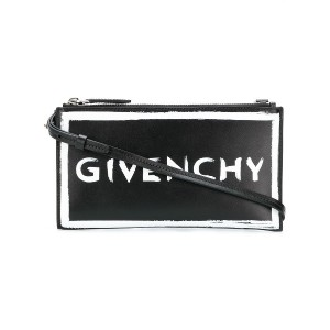 Givenchy ロゴ クラッチバッグ - ブラック