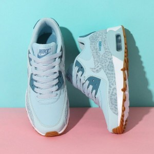 NIKE AIR MAX 90 LTR SE GG(ナイキ エア マックス 90 レザー SE GS)(OCEAN BLISS/NOISE AQUA-WHITE)18SP-I