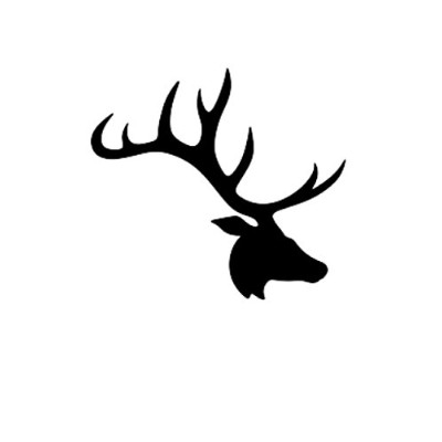 (16x20) - Deer with Large Antlers Stencil Made From 4 Ply Matboard