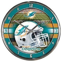 Miami Dolphins NFL WINCRAFTによってクロームラウンドクロック