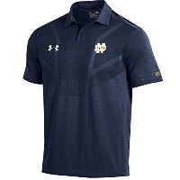 NCAA Notre Dame Fighting IrishメンズサイドラインツアーCoaches Polo、M、ネイビー