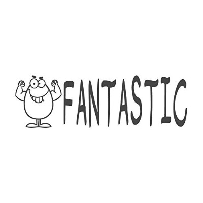 Fantastic with Eggイメージ、pre-inked先生ラバースタンプ( # 671303-j ) ,スタイルJ Large size (58 x 18mm) グリーン