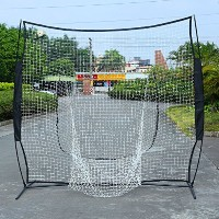 homgrace 7 ' x 7 '野球ソフトボールPractice Net Hitting & Pitchingトレーニング補助Net with CarryingバッグBatting...