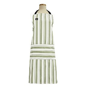 High Qualityonal Heavyweight Cotton Stain Resistant Striped Cook's Apron, Sage