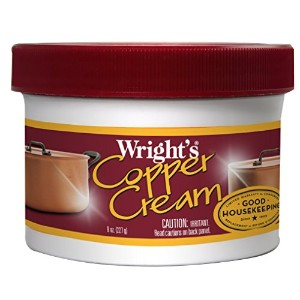 Wright's Copper Cream - For Cleaning and Polishing Pots, Sinks, Mugs, Hardware, Pans and More - 8...
