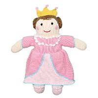 Zubels 100 % hand-knit Milly the Princess Rattleおもちゃすべて天然繊維