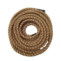 RopeServices UK 15m x 20mmグレード1自然3ストランドマニラロープ、庭園、デッキ、DIY by RopeServices UK