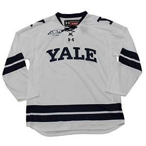 Yale Bulldogs under armour NCAAメンズホワイトレプリカHockey Jersey 3L